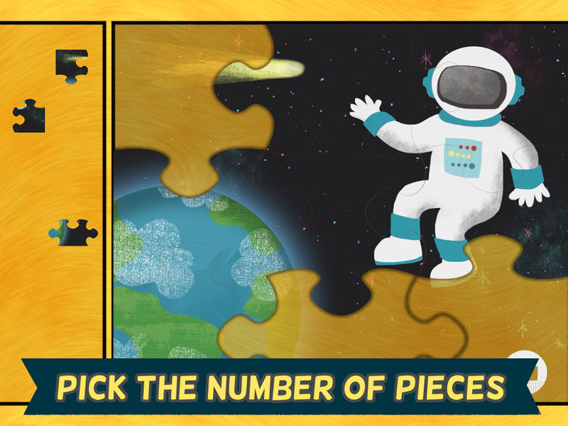 Space Puzzles For Kids Simple