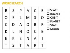 Space word search simple