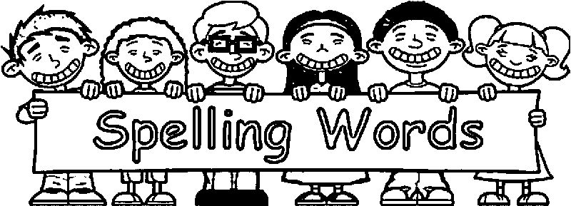 Spelling Words 3rd Grade Coloring Page