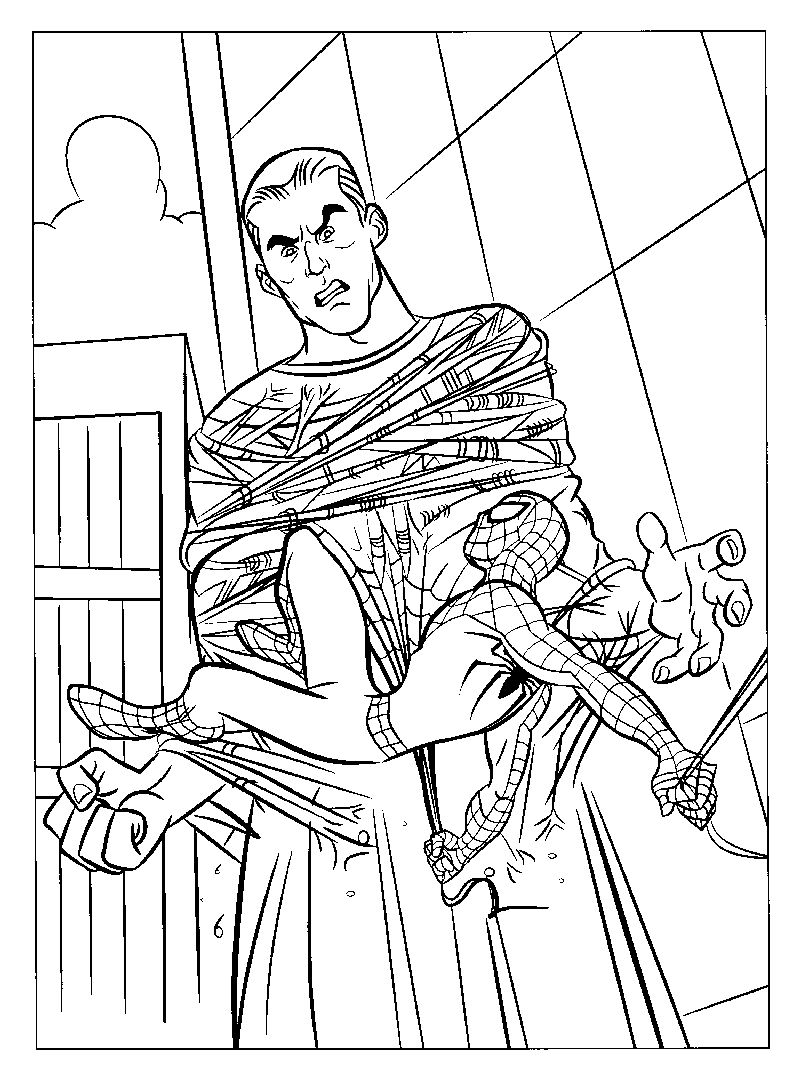 Spiderman And Friends Coloring Pages