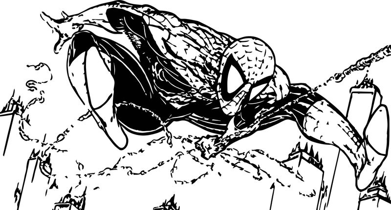 Spiderman Cartoon Full Size Spider Man Coloring Page ...
