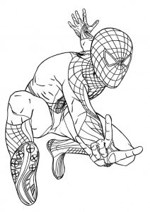 Spiderman coloring page printable