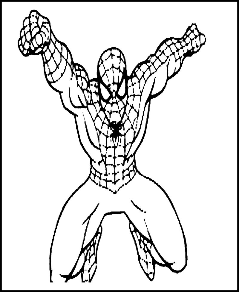 Spiderman Coloring Pages To Print Out