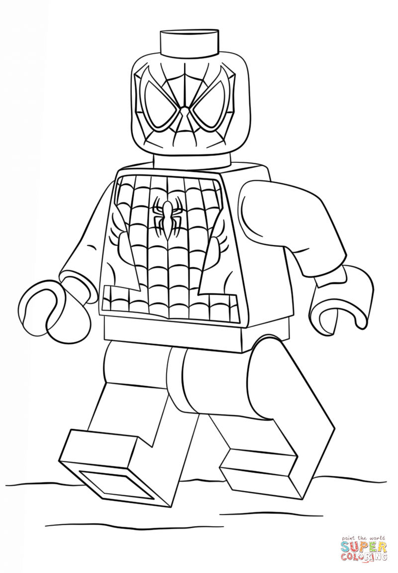 Spiderman Lego Avengers Coloring Pages