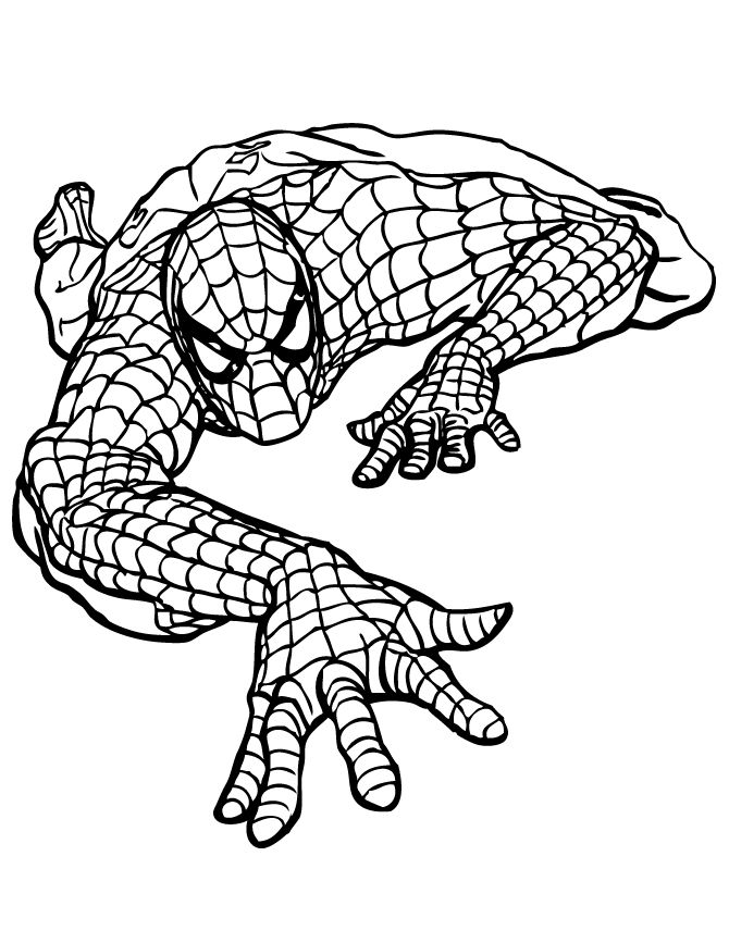 Spiderman Marvel Coloring Pages 001