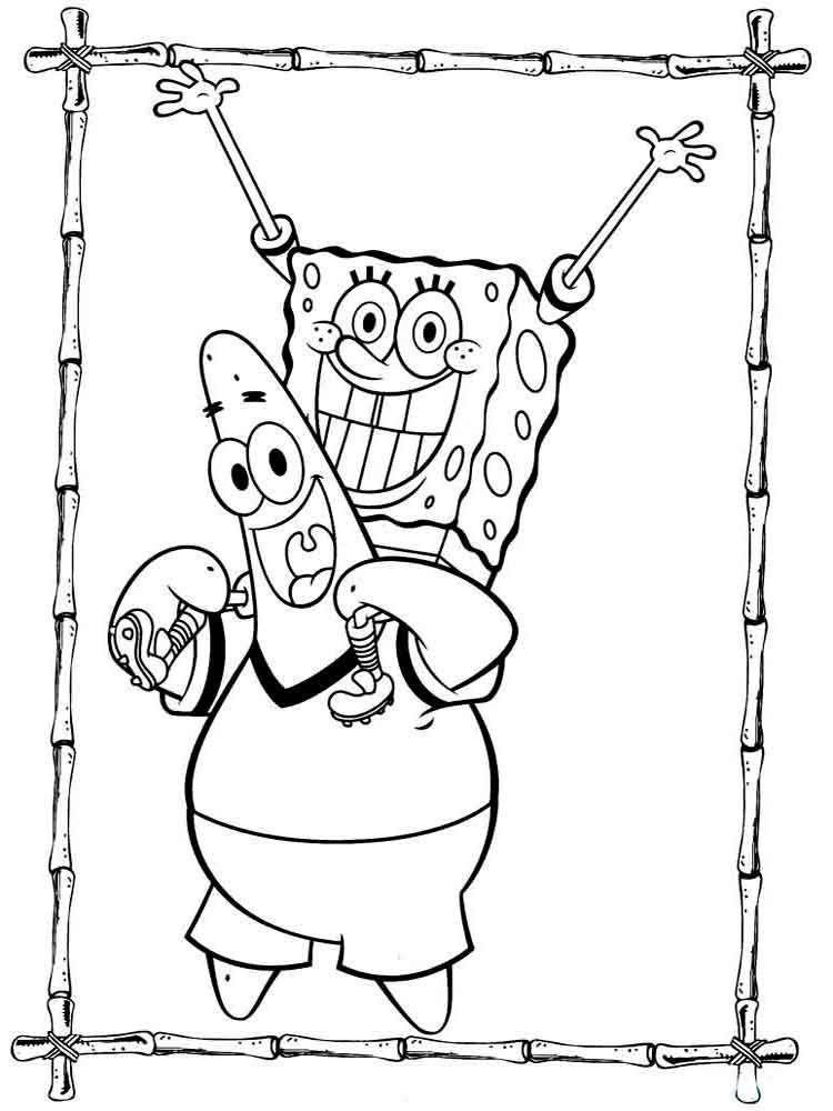 Spongebob And Patrick Victory Coloring Pages