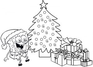 Spongebob christmas presentscoloring pages