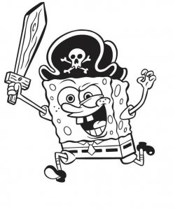 Spongebob pirate coloring pages