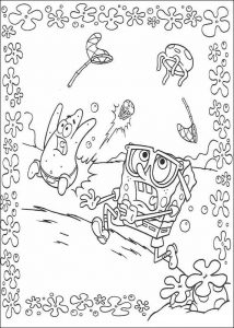Spongebob squarepants coloring pages pictures