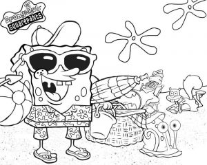 Spongebob squarepants coloring pages printable
