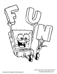 Spongebob And Sandy Coloring Pages Printable 07