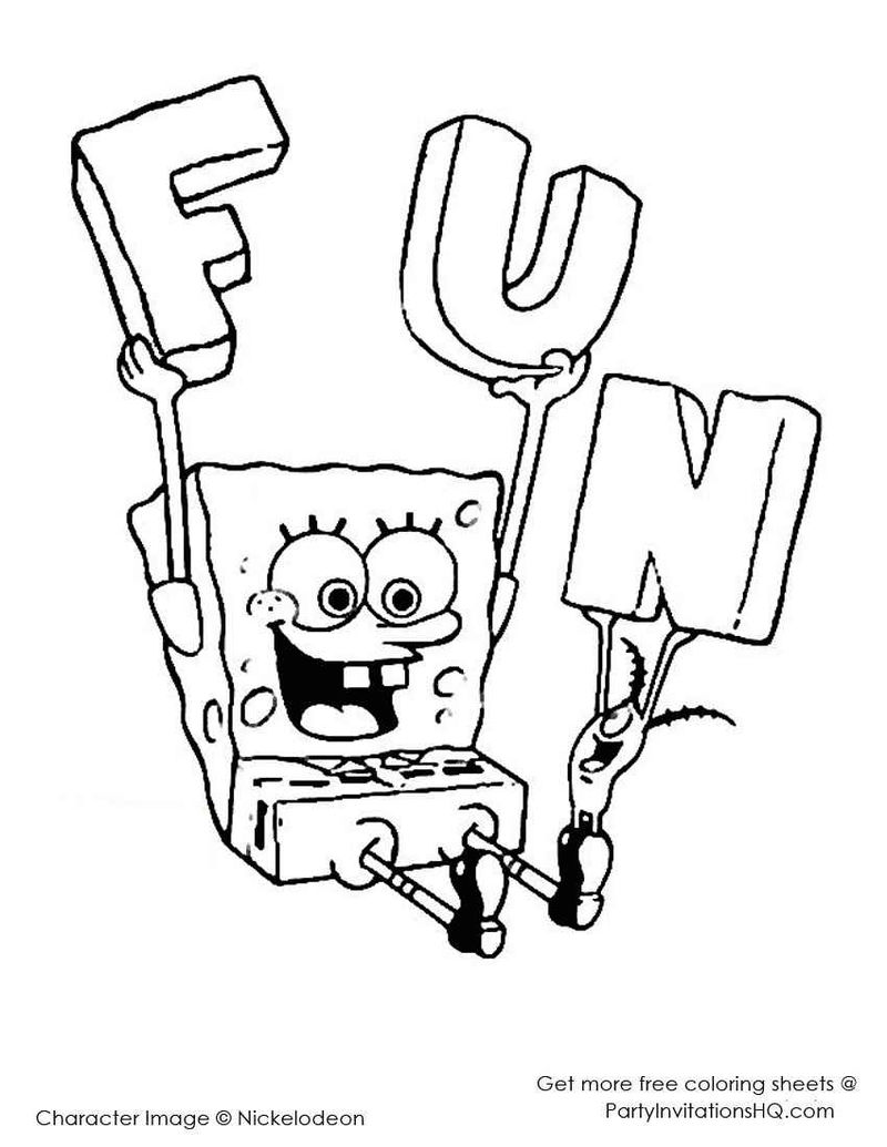 Spongebob And Sandy Coloring Pages Printable 07 - Coloring ...