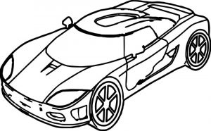 Sport toy car coloring page