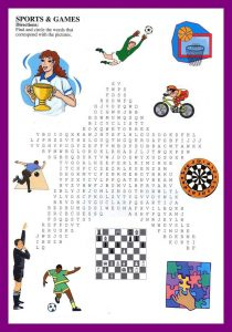Sports word searches for kids