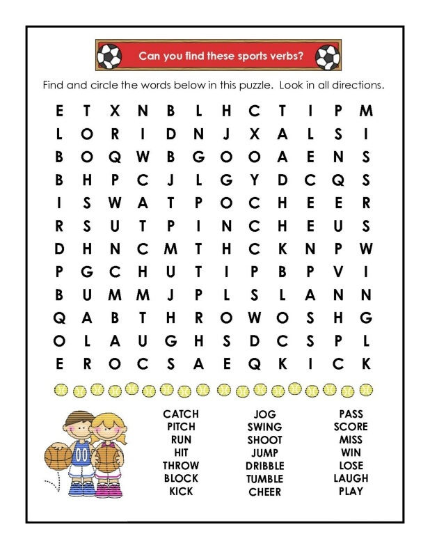 Sports Word Searches Soccer