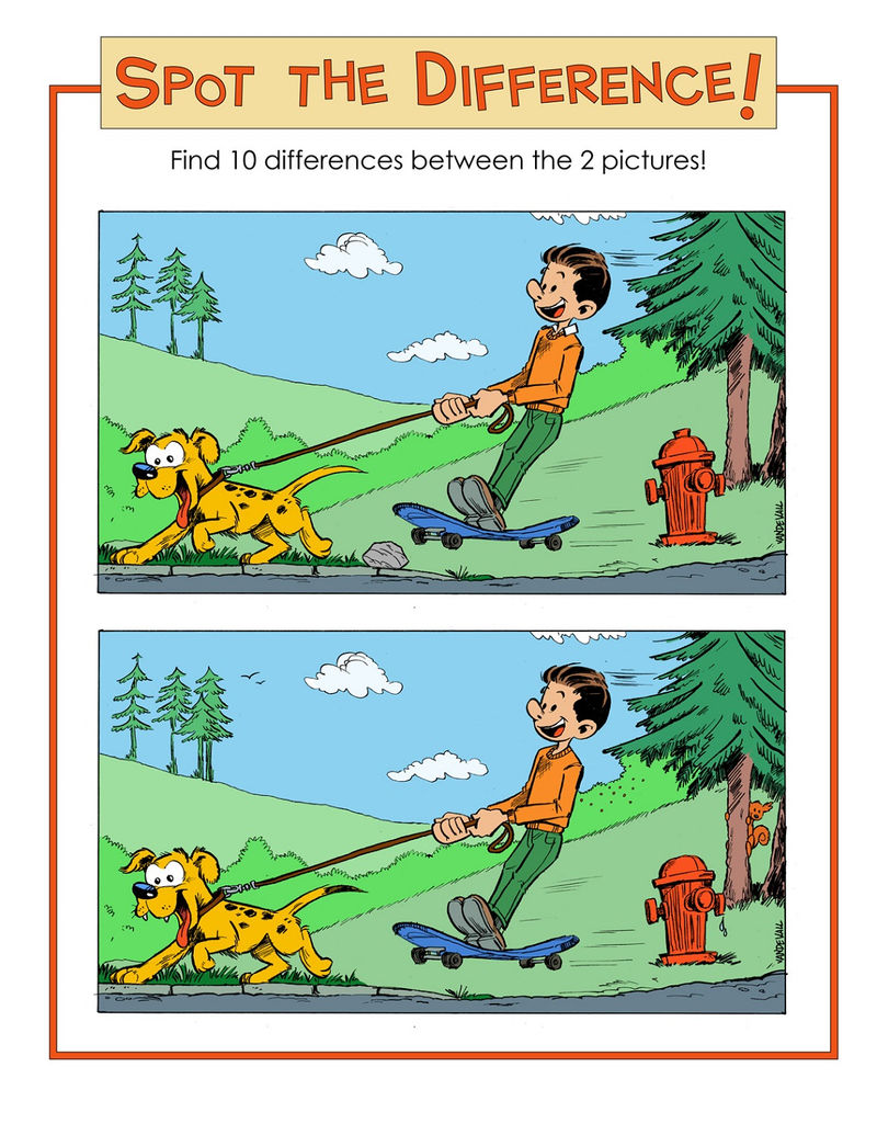 Spot 10 Differences Between Pictures Cartoon 001