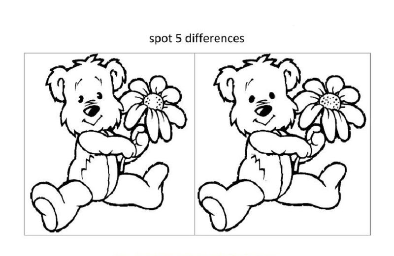 Spot The Difference Worksheets For Girl