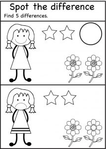 Spot the difference worksheets for preschool