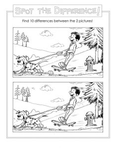 Spot the difference worksheets kids
