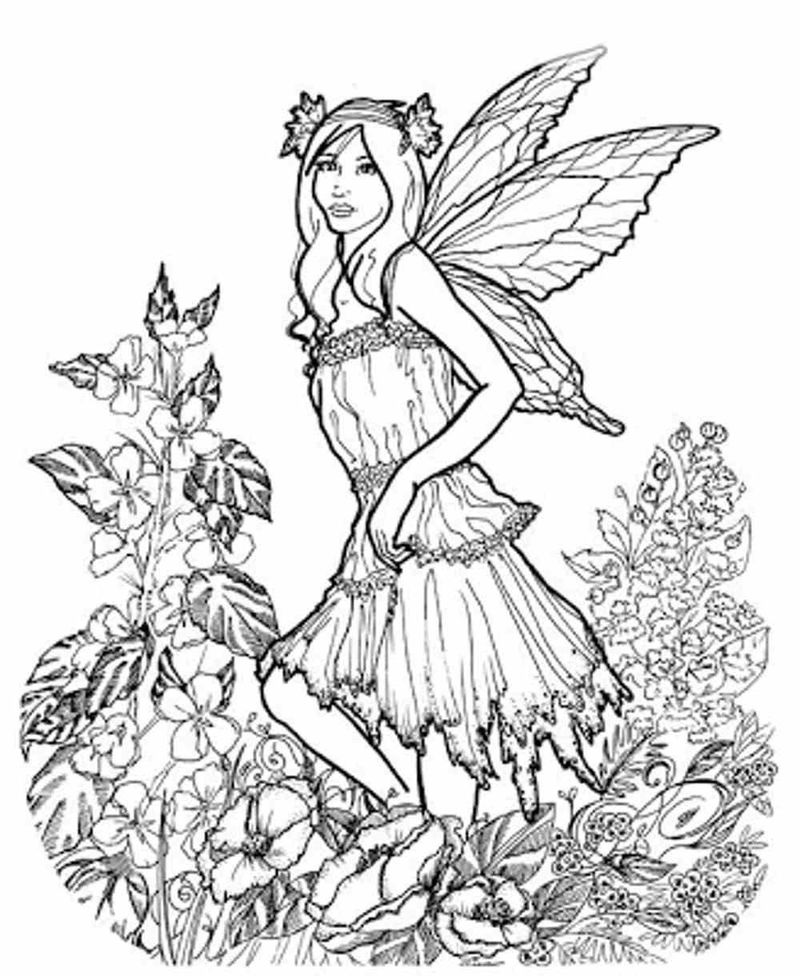 Spring Coloring Pages Adult 1