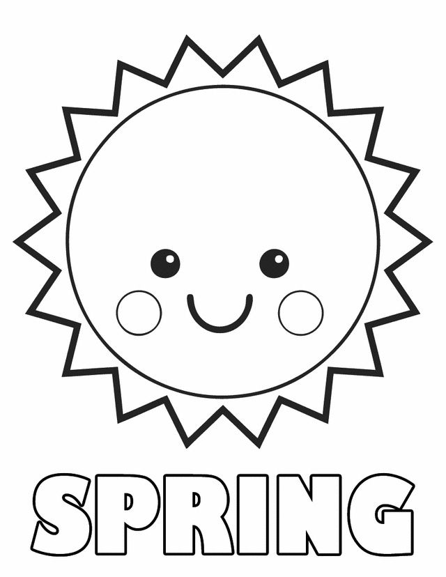 Spring Coloring Pages For Toddlers