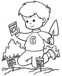 Spring coloring pages garden 001