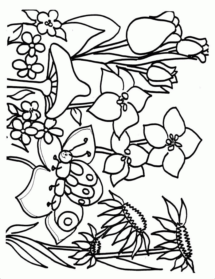 Spring Coloring Pictures 2 001