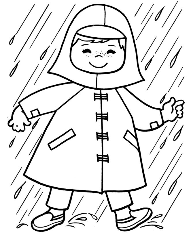 Spring Raincoat Coloring Page