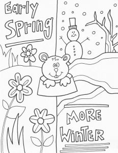 Spring winter groundhog day worksheet