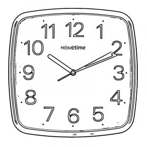 Square wall clocks 4975 free printable 05 cartoonized free printable coloring page