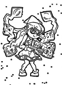 Squid girl coloring page 072