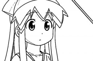 Squid girl coloring page 081