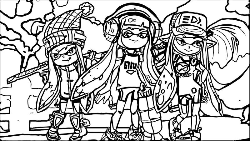 Squid Girl Coloring Page 088