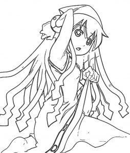 Squid girl coloring page 091