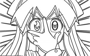Squid girl coloring page 096