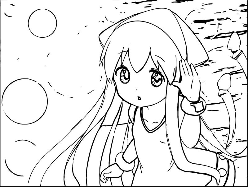 Squid Girl Coloring Page 099