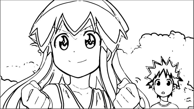 Squid Girl Coloring Page 103