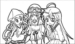 Squid girl coloring page 109