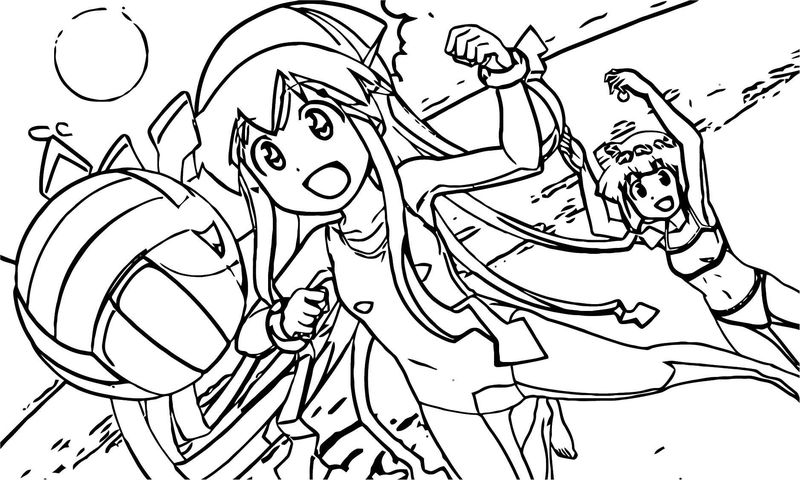 Squid Girl Coloring Page 113