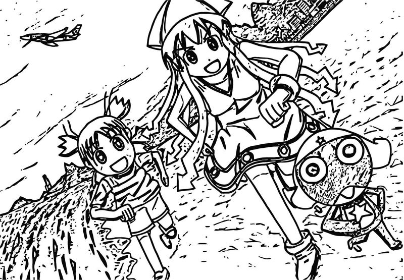 Squid Girl Coloring Page 115