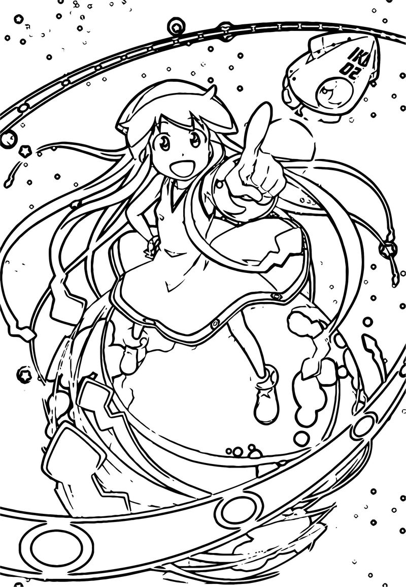 Squid Girl Coloring Page 116