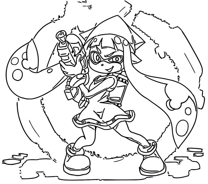 Squid Girl Coloring Page 117