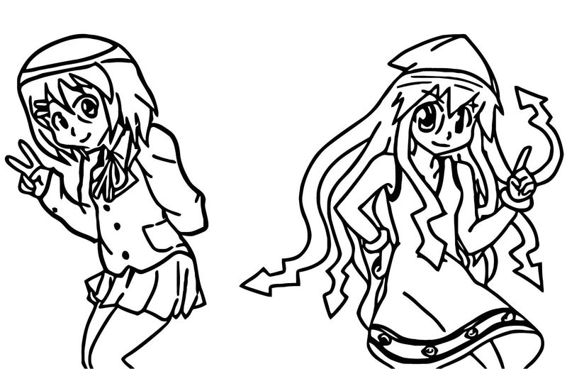 Squid Girl Coloring Page 119