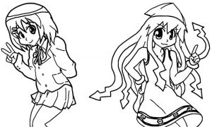 Squid girl coloring page 120