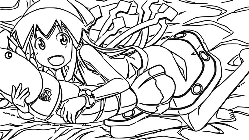 Squid Girl Coloring Page 128