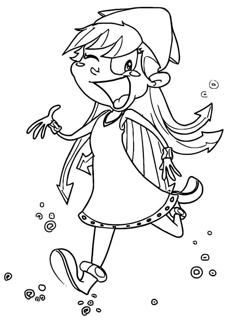 Squid Girl Coloring Page 137