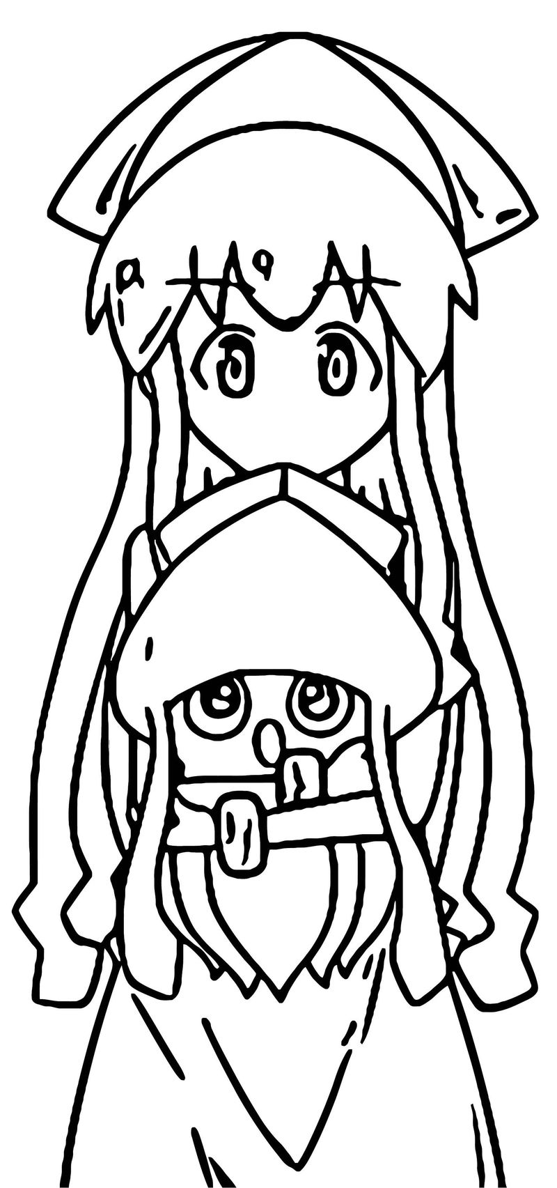 Squid Girl Coloring Page 151