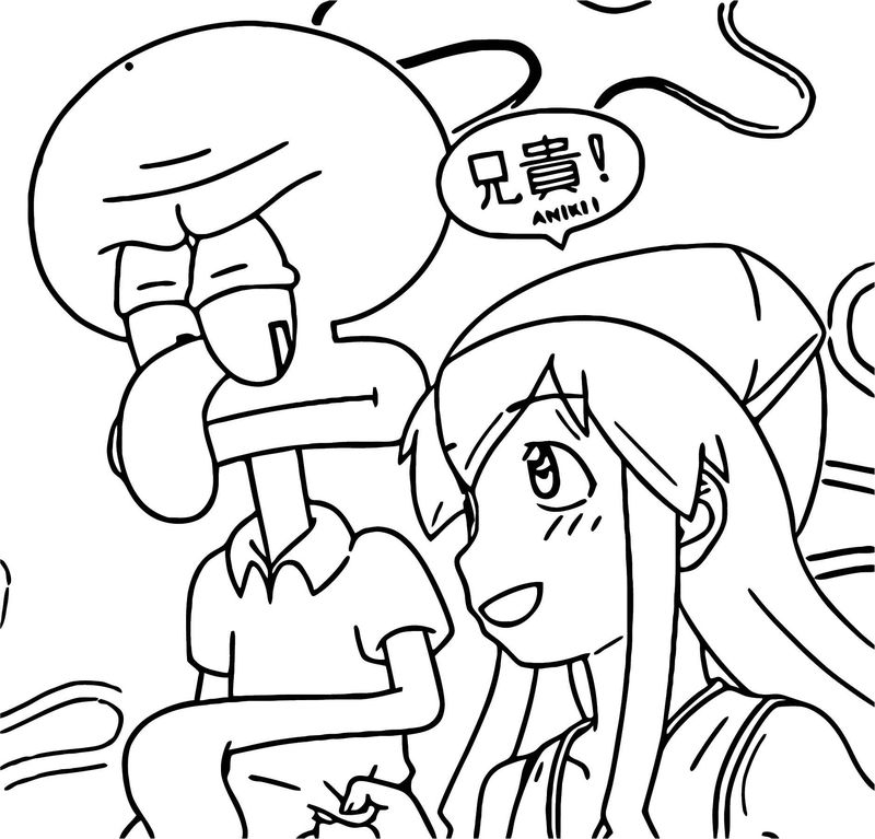 Squid Girl Coloring Page 154