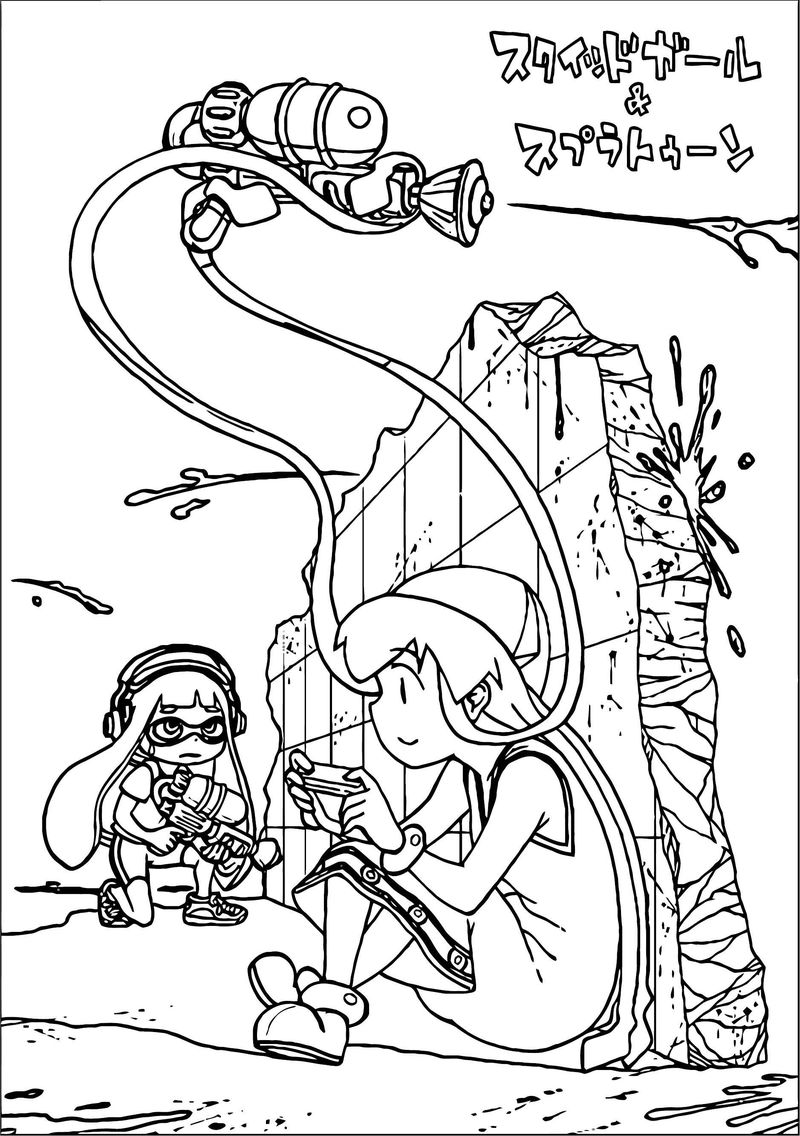 Squid Girl Coloring Page 155