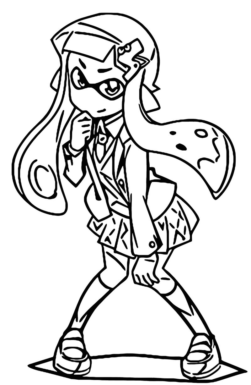 Squid Girl Coloring Page 164